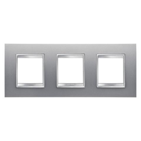 LUX International 2+2+2 gang horizontal plate - Titanium