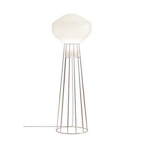 Floor Lamp H186cm Ø20cm Black Copper