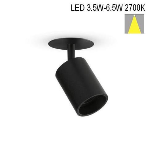 Spot NANOPERFETTO-R LED 3.5W/4.5W/6.5W 2700K black