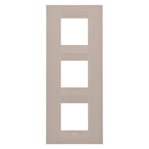 GEO International 2+2+2 gang vertical plate - Hemp