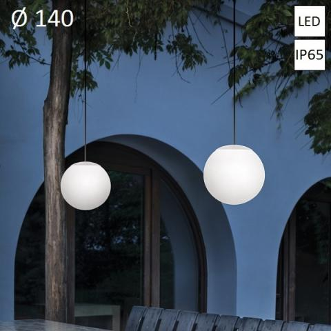 Pendant Ø140 LED 8W IP65 white
