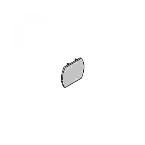 Странична капачка за шина MM сива