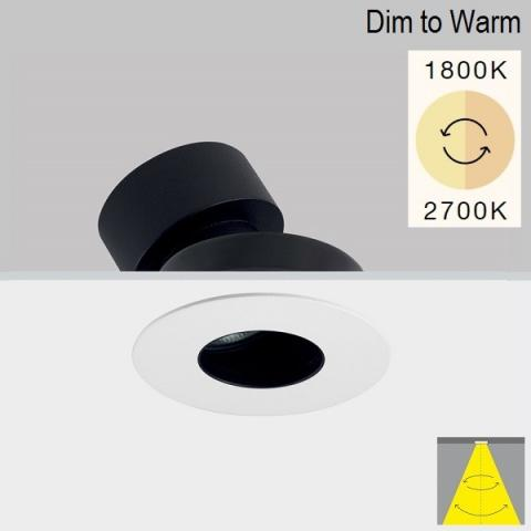 Tiltable downlight Perfetto-in 90 LED 12W DIM TO WARM 1800-2700K IP20