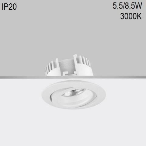 Adjustable downlight RA 8 DIXIT LED 5.5/8.5W 3000K CRI90 IP20