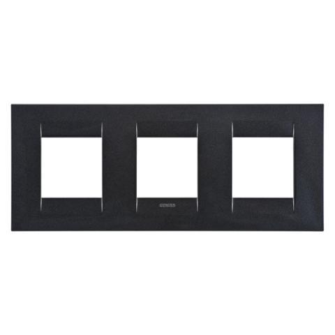 GEO International 2+2+2 gang horizontal plate - Slate