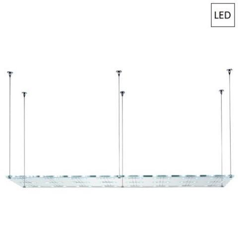 Pendant 200x50cm 48x3W G4 LED Transparent
