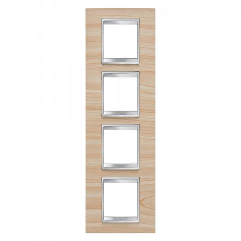 Рамка LUX International 2+2+2+2 вертикална - дърво - Maple