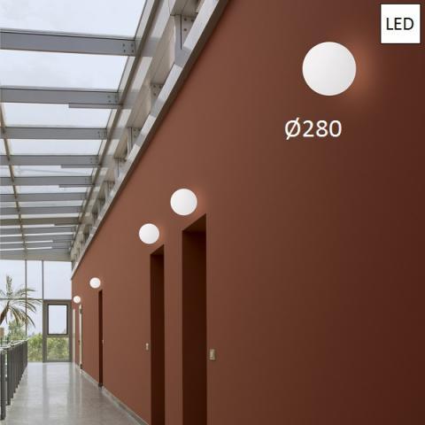 Ceiling lamp Ø280 LED 8W IP65 white