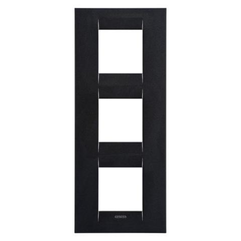 GEO International 2+2+2 gang vertical plate - Slate