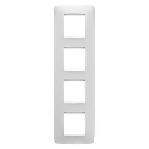 Рамка ONE International 2+2+2+2 вертикална - Milk White