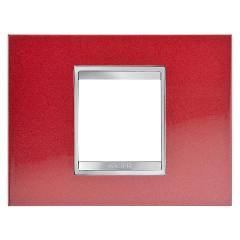 Рамка LUX 2 модула - Метал - Glamour Red