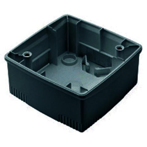Wall-mounting box black 2 gang for plates ONE International