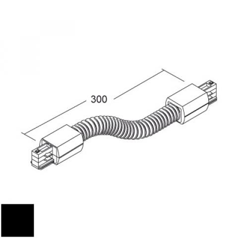 Flexible joint for LKM Round track - black