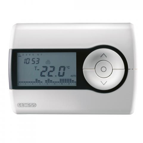Timed thermostat +5°C to +40°C wall-mounted