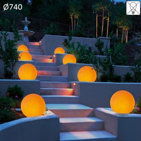 Garden floor-lamp Ø740 E27 max 57W amber