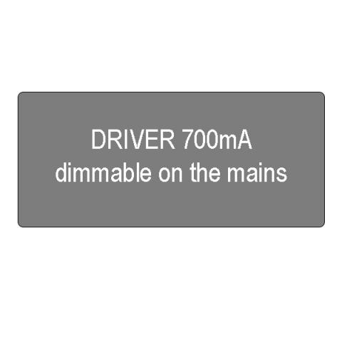 Driver 700mA dimmable on the mains