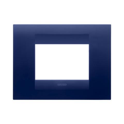 GEO plate 3 gang Topaz Blue