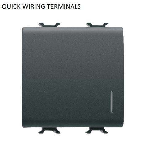 TWO-WAY SWITCH illuminable 1P 16AX - quick wiring terminals