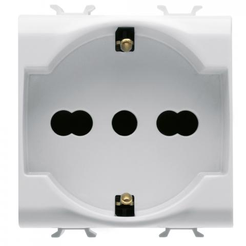 ITALIAN/GERMAN STANDARD SOCKET-OUTLET 2P+E 16A DUAL AMPERAGE