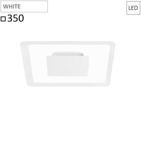 Wall/ceiling lamp 350x350 LED 19W white