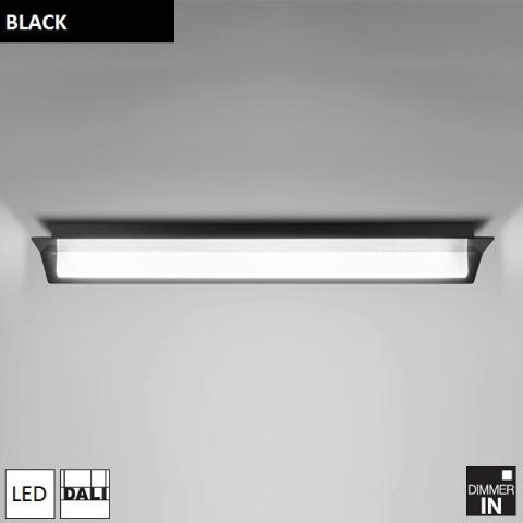 Ceiling Light 1300mm LED DALI black