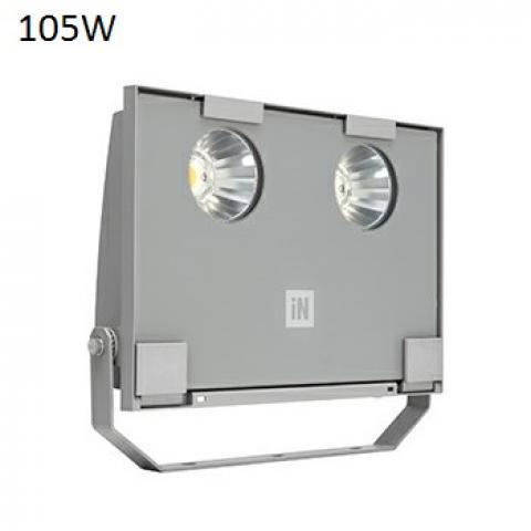 Floodlight GUELL 2 C/I LED 105W grey