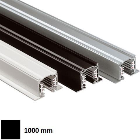 Трифазна релса LKM за вграждане 1m черна