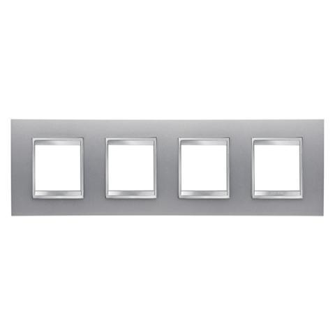 Рамка LUX International 2+2+2+2 хоризонтална - Titanium