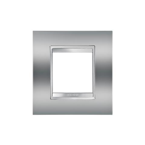 Рамка LUX International 2 модула - Chrome