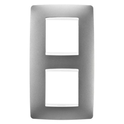 Рамка ONE International 2+2 вертикална - Titanium