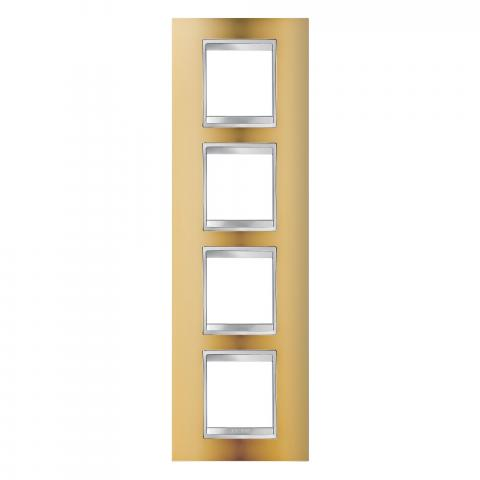 Рамка LUX International 2+2+2+2 вертикална - Gold