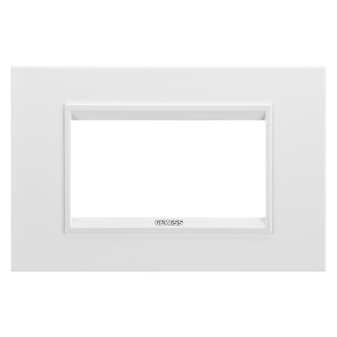 Рамка LUX 4 модула - метал - Monochrome White
