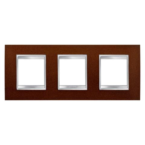 LUX International 2+2+2 gang horizontal plate - Oxidised Finish