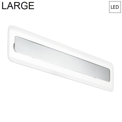 Wall/ceiling lamp 614x135mm LED Chrome - Transparent