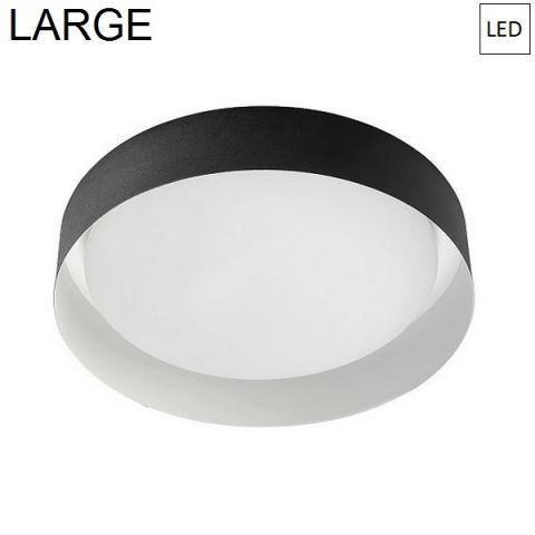 Плафон Ø402mm LED 22W 3000K черно/бяло