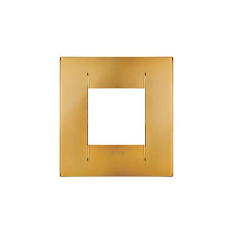 Geo International 2 gang plate - Gold