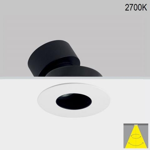 Tiltable downlight Perfetto-in 90 LED 6/9/12/18W 2700K 38° IP20