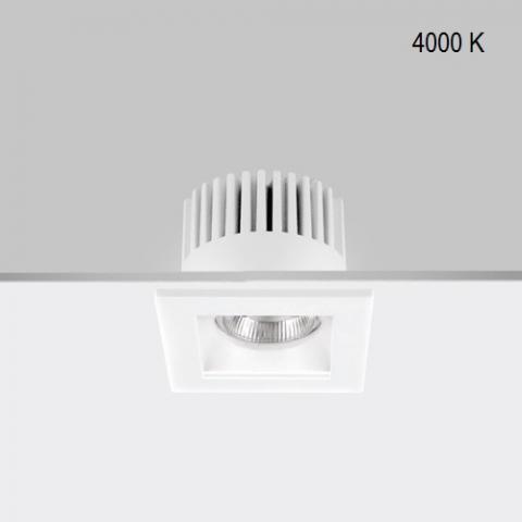 Fixed downlight RA 8 Q DIXIT LED 9W/12W 4000K IP44