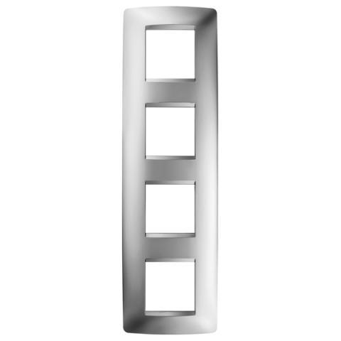 Рамка ONE International 2+2+2+2 вертикална - Chrome