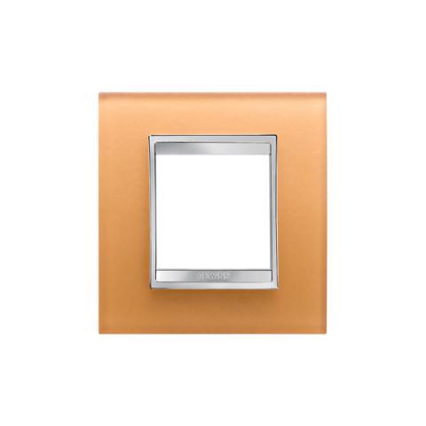Рамка LUX International 2 модула - стъкло - Ochre