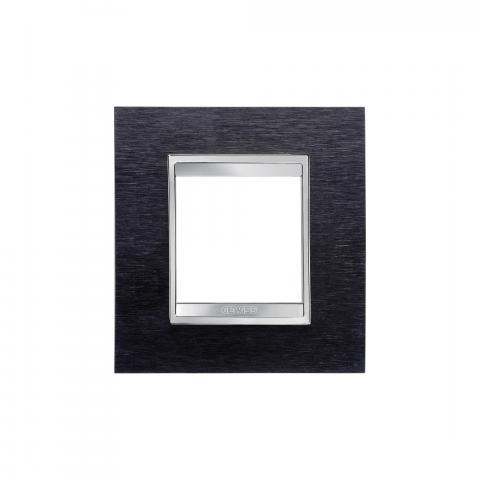 Рамка LUX International 2 модула - Black Aluminium