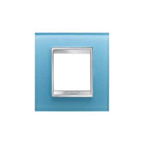Рамка LUX International 2 модула - стъкло - Aquamarine