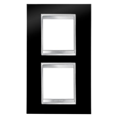 Рамка LUX International 2+2 вертикална - Toner Black