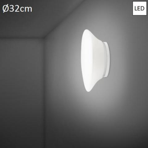 Плафон Ø32cm LED бял