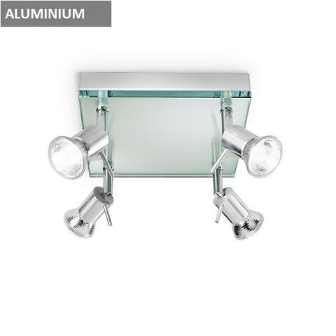 Ceiling lamp 4xGU10 aluminium