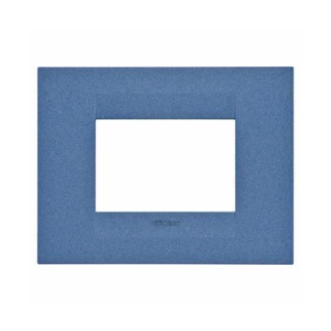 GEO plate 3 gang - Sea Blue