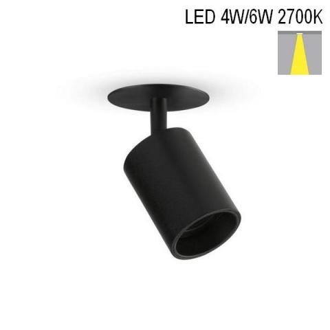 Spot NANOPERFETTO-R LED 4W-6W 2700K BLACK