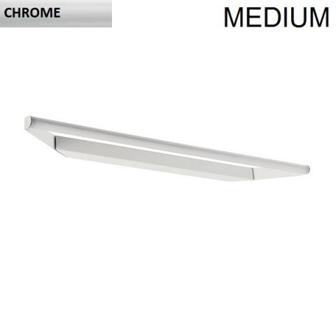 Directional wall/ceiling light 63cm LED 11W IP40 chrome