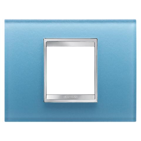 Рамка LUX 2 модула - стъкло - Aquamarine