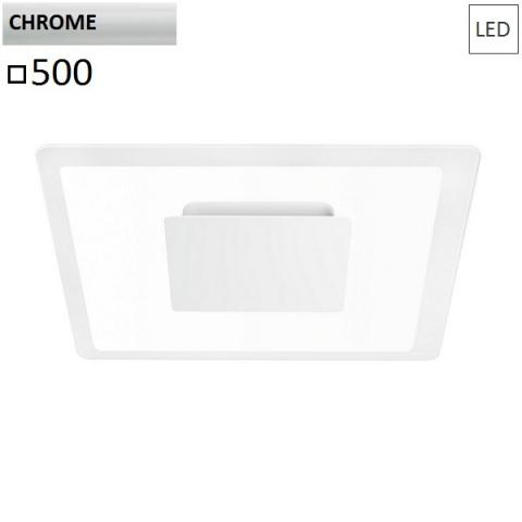 Wall/ceiling lamp 500x500 LED 40W chrome